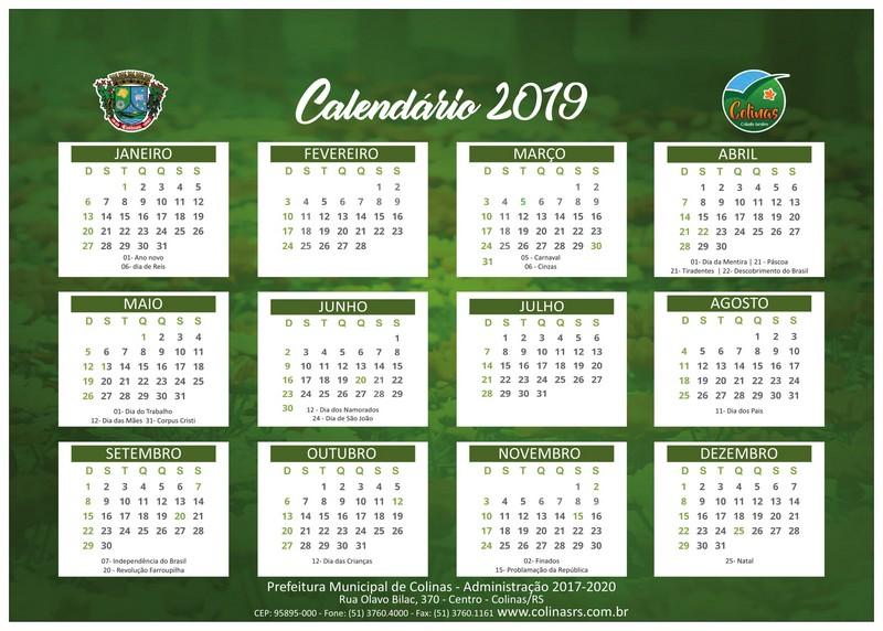Calendario 2019 Rio Grande Do Sul.Eventos